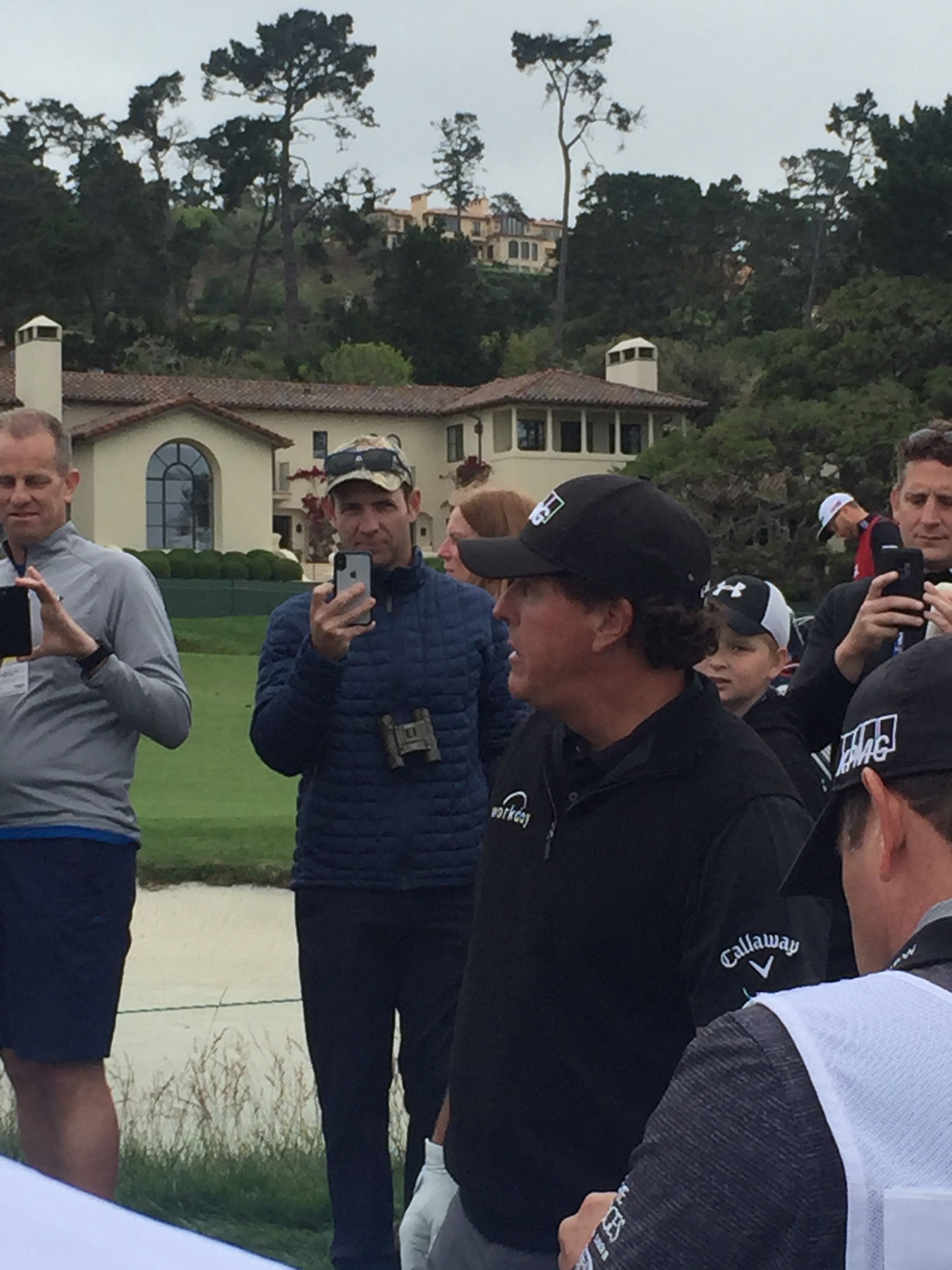 Phil Mickelson among the fans