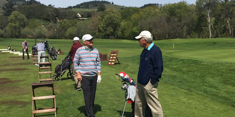 Dave and Hilton on the range