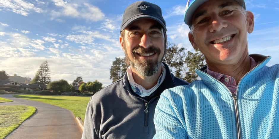 alan and ben at Quail golf course