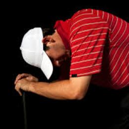 frustrated golfer
