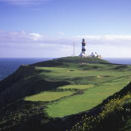Golf Hole with lighthouse