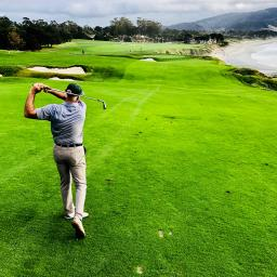 Ben Kline on Pebble Beach 10th hole